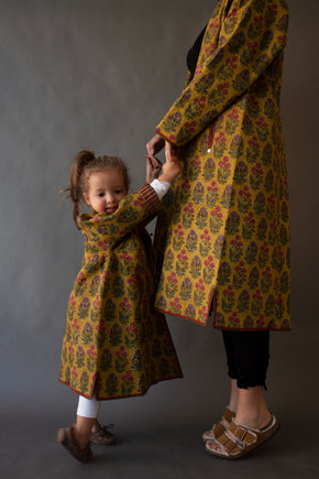 Yellow Post Sosen Mini Afghani Coat