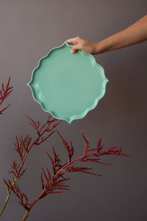 Mint Arabesque Plate