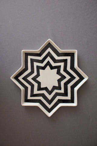 Striped Star Plate