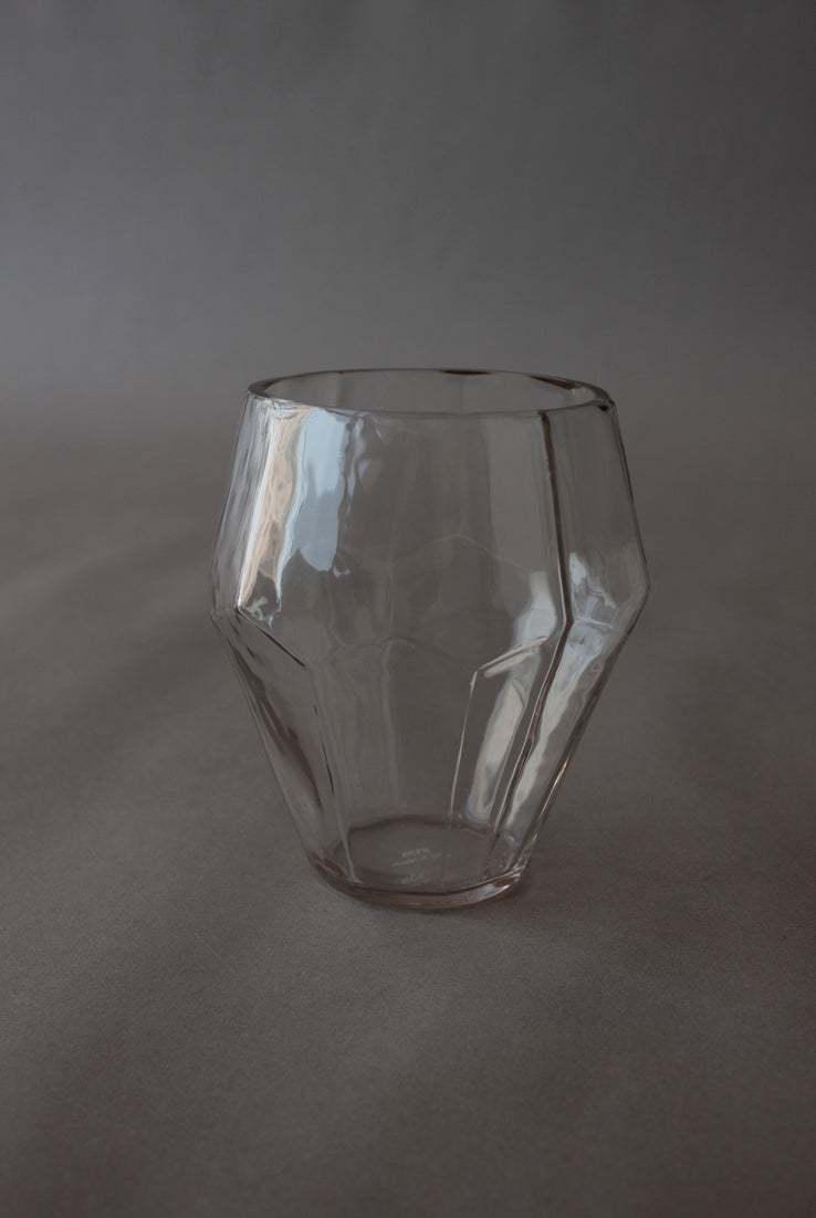 Clear Faceted Vase