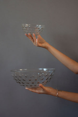 Glass Dotted Bowls