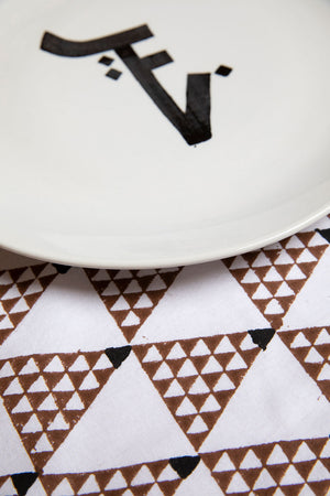 Brown Triangles Placemats