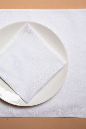 White Octopus Placemats