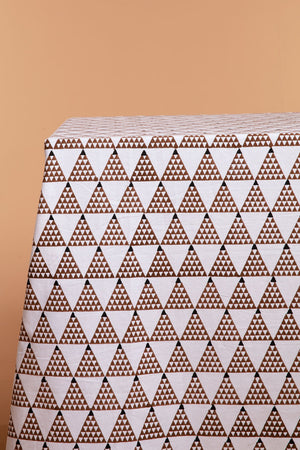 Brown Triangles Tablecloth
