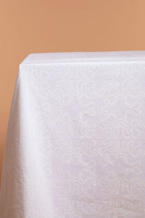White Octopus Tablecloth