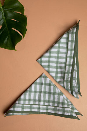 Mint Gingham Napkins