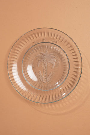 Palm Etched Glass Plates