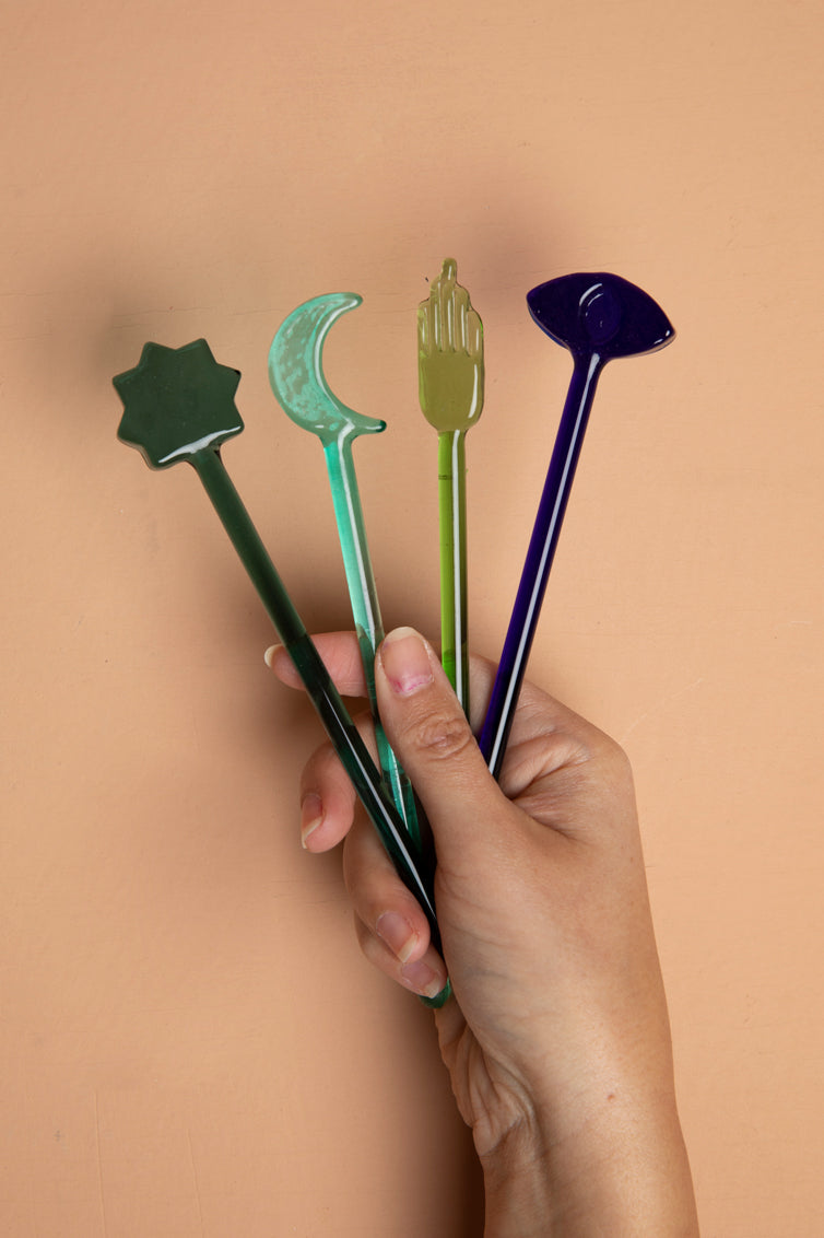 Cool Set of Glass Stirrers