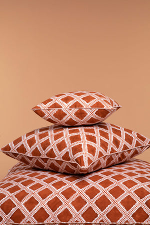 Rust Nomadic Star Cushion Cover