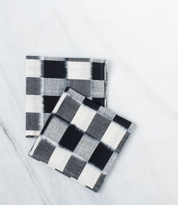 Black Checked Napkins