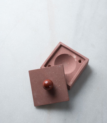 Red Stone and Jasper Ashtray Box