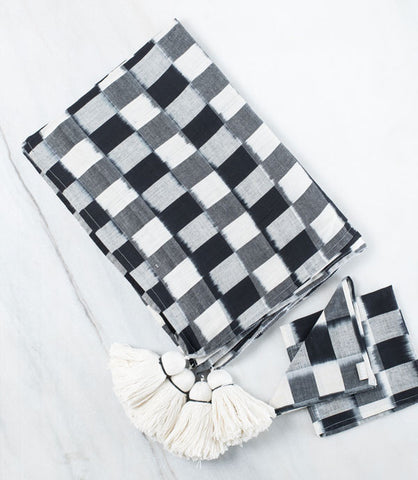Black Checked Napkins- Set of Two