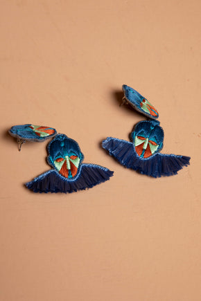 Mask Rafia Earrings