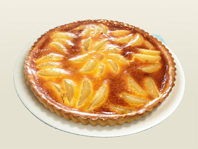 Pear chocolate pie lactose-free kosher pareve miami
