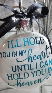 Clear Glass Ornament with Message