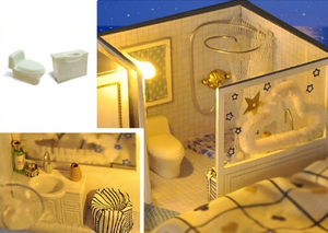 "DIY Miniature Dollhouse Kit ""Valencia Coast"" - Scale 1:24"