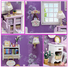 "Load image into Gallery viewer, DIY Miniature Dollhouse Kit ""Sweet Sunshine"" - Scale 1:24"
