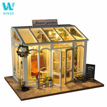 Load image into Gallery viewer, WINCO Wooden Diy Doll house Toy Miniature Box Puzzle Dollhouse Diy Kit Furniture Flower Cake Shop Model Gift Toy For Children