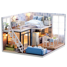 Load image into Gallery viewer, DIY Miniature DollHouse 1:24 Wooden Doll Houses with Furniture Kit LED Gift for Children Adults Handcraft