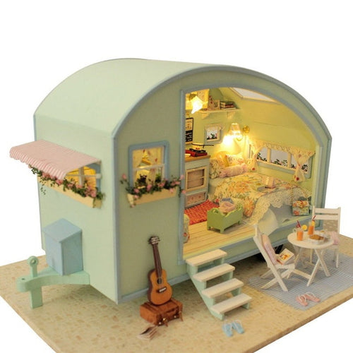 DIY Doll House Wooden Doll Houses Miniature dollhouse Furniture Kit Toys for Children Gift  Time travel Doll Houses A-016
