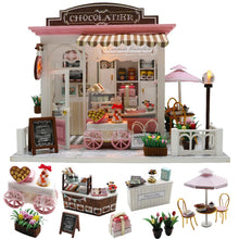 "Load image into Gallery viewer, DIY Miniature Dollhouse kit ""Chocolatier"" - Scale 1:24"