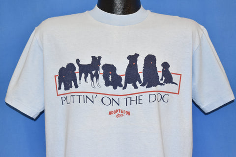 80s Puttin' On the Dog Animal Shelter Adoption t-shirt Large