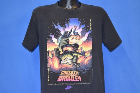 90s Nike Charles Barkley VS. Godzilla NBA Black t-shirt Large