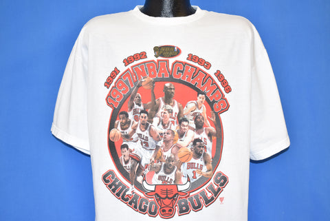 90s Chicago Bulls '97 NBA Finals Champs Deadstock t-shirt Large