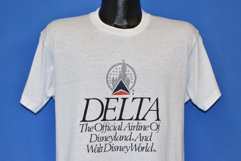 80s Delta Official Walt Disney Airline t-shirt Large