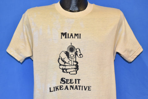 80s Miami See it Like a Native Gun Point Florida t-shirt Medium