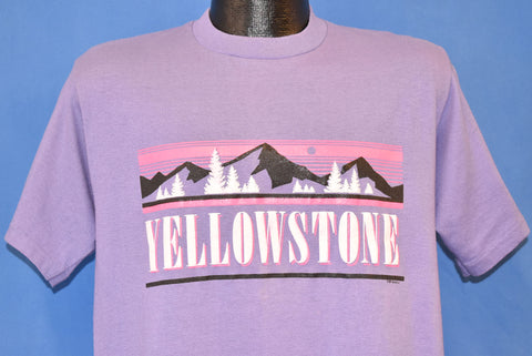 90s Yellowstone National Park Mountains Purple t-shirt Large
