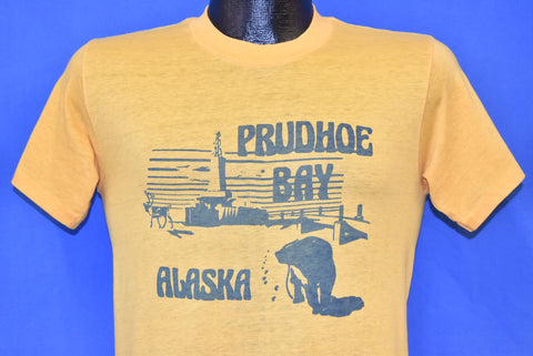 70s Prudhoe Bay Alaska Oil Field Sagavanirktok Soft t-shirt Small