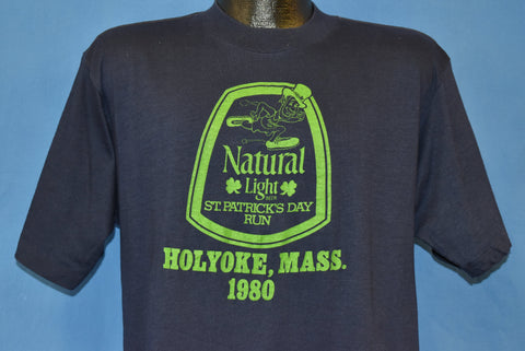 80s Natural Light Beer St. Patrick's Day Holyoke MA t-shirt Large