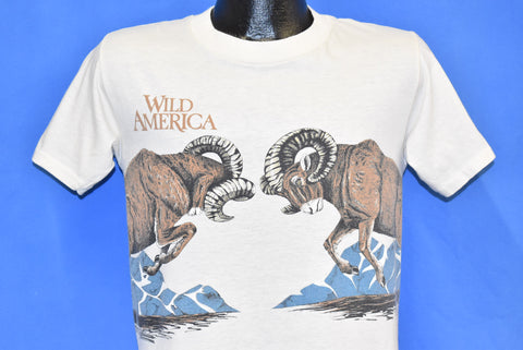 80s Wild America Rams Fighting Mountains Soft t-shirt Medium
