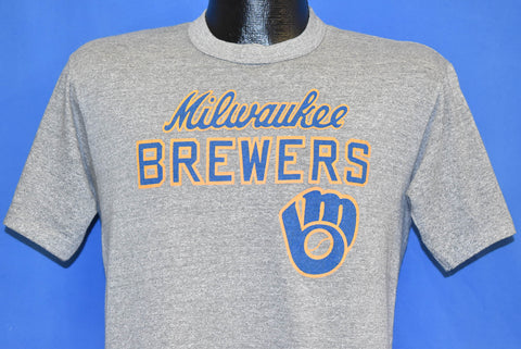 80s Milwaukee Brewers MLB Baseball Gray t-shirt Medium