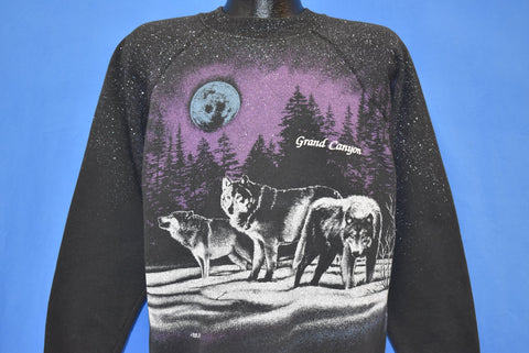 80s Grand Canyon AZ Wolf Pack All Over Sweatshirt Large