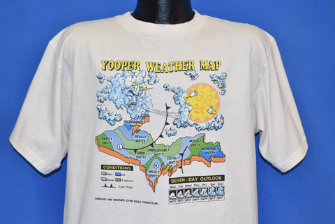 90s Yooper Weather Map t-shirt Large