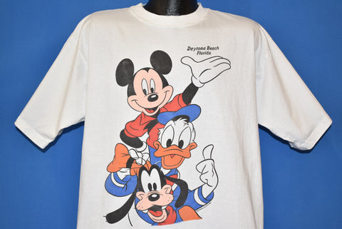 80s Mickey Mouse Goofy Daytona Beach t-shirt Extra Large
