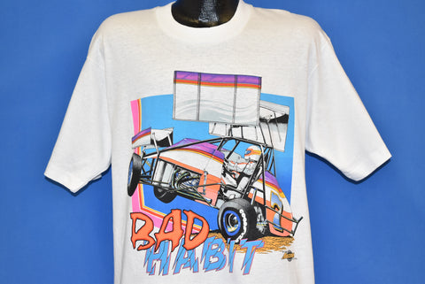 90s Bad Habit Dirt Track Racing t-shirt Large
