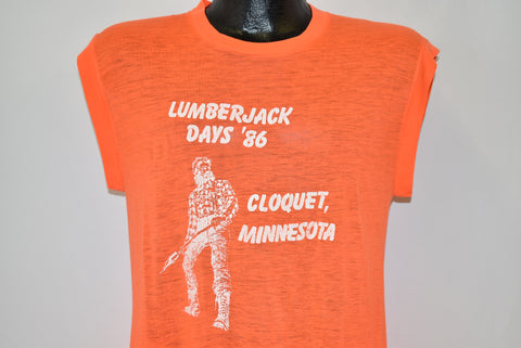 80s Lumberjack Days '86 Cloquet Distressed t-shirt Medium