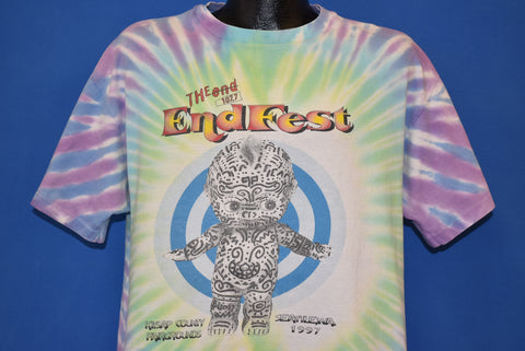 90s End Fest 107.7 1997 Tie Dye t-shirt Extra Large