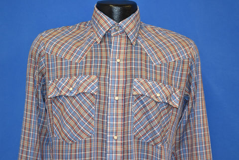 80s Levi's Plaid Pearl Snap Western Shirt Small