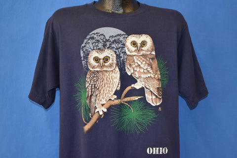 80s Barred Owls Ohio Tourist t-shirt Extra Large