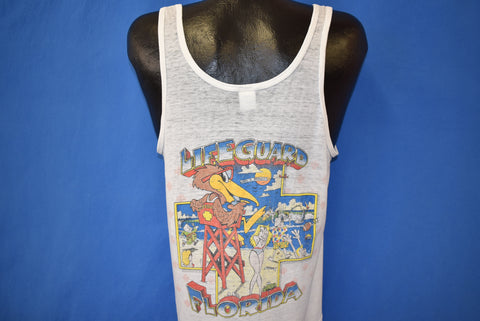 80s Daytona Beach Pelican Lifeguard Tank Top t-shirt Medium