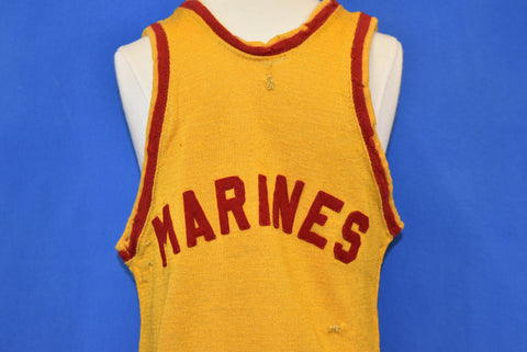 40s US Marines Wool Jersey Tank Top Extra Small