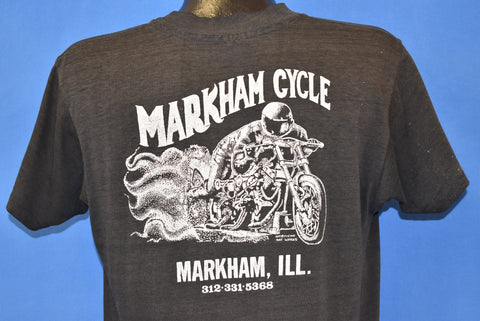 80s Markham Cycle Motorcycles Distressed t-shirt Large