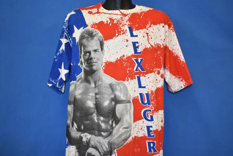 90s Lex Luger American Flag Print Deadstock t-shirt Extra Large