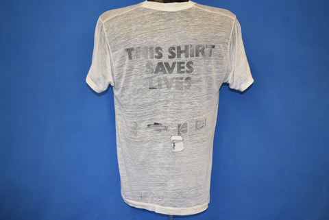80s This Shirt Saves Lives Live Aid Distressed t-shirt Large