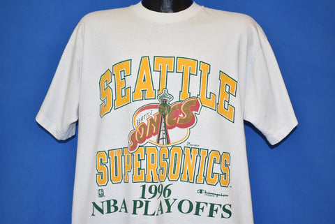 90s Seattle Supersonics 1996 NBA Playoffs t-shirt Extra Large