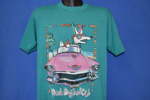 80s Rude Dog Surf Club Neon t-shirt Large